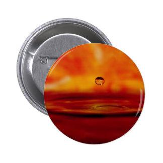 Fiery Water Orb Pinback Button