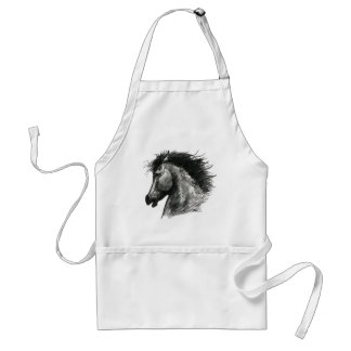 Fiery Wild Horse Adult Apron