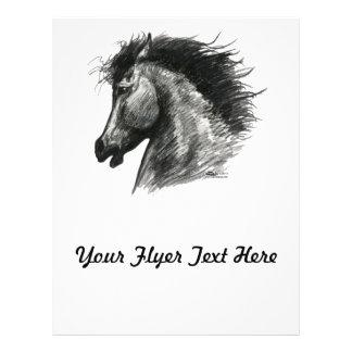Fiery Wild Horse Custom Flyer