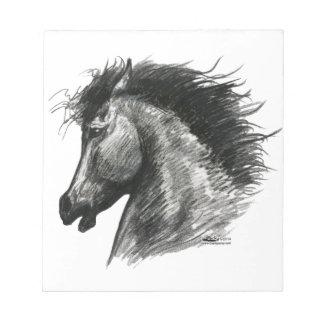 Fiery Wild Horse Notepad