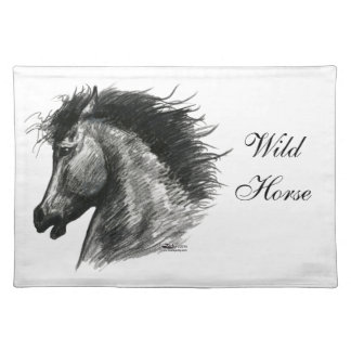 Fiery Wild Horse Cloth Placemat