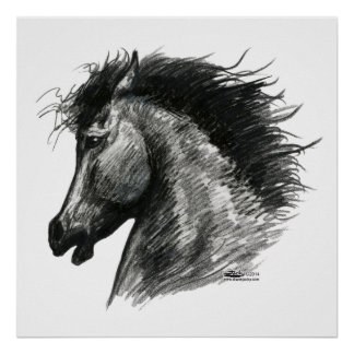 Fiery Wild Horse Posters