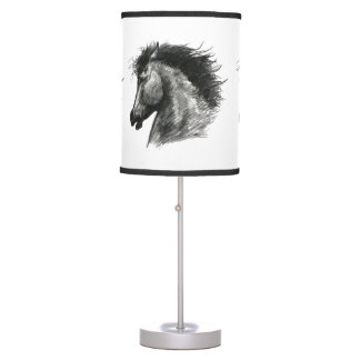 Fiery Wild Horse Table Lamp