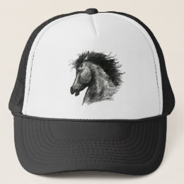 Fiery Wild Horse Trucker Hat