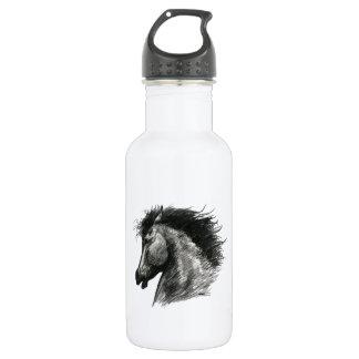 Fiery Wild Horse Water Bottle