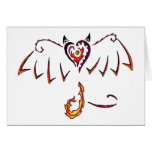 Fiery Wings Greeting Cards