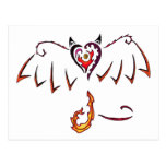 Fiery Wings Postcard