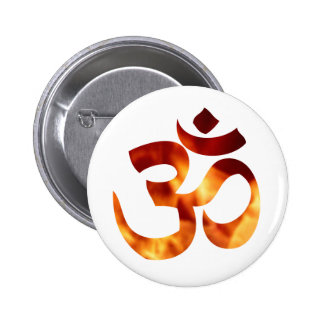 Fiery Yoga Symbol Pinback Button