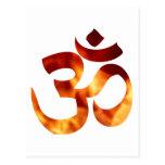 Fiery Yoga Symbol Post Card