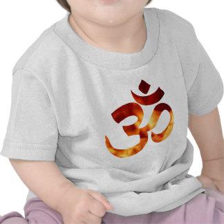 Fiery Yoga Symbol Tee Shirts