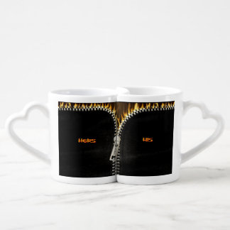 Fiery Zipper Coffee Mug Set
