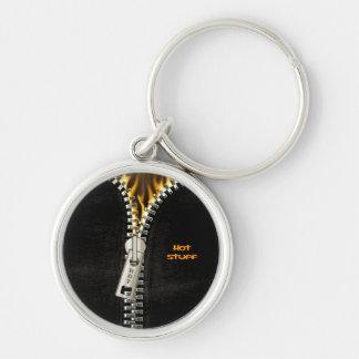 Fiery Zipper Keychain