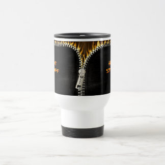 Fiery Zipper Travel Mug