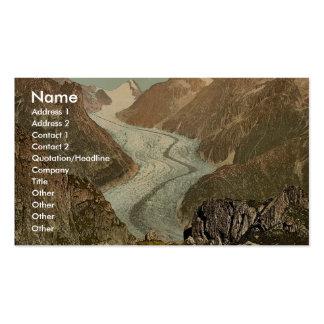 Fiescher Glacier Valais Alps of Switzerland vin Business Card