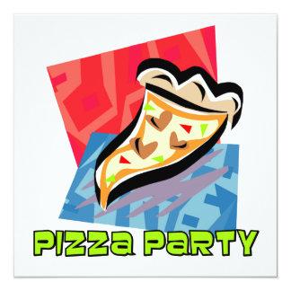 """Fiesta 1 de la pizza invitación 5.25"""" x 5.25"""""""