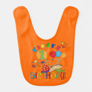 Fiesta 1st Birthday Bib Baby Bib