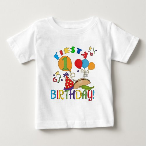 Fiesta 1st Birthday Tshirts and Gifts