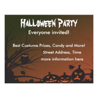 Fiesta 2 de Halloween Flyer Personalizado