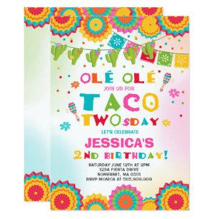 taco party invitations zazzle