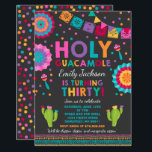 "Fiesta 30th Birthday Invitation Holy Guacamole 30<br><div class=""desc"">Fiesta 30th Birthday Invitation  All designs are © PIXEL PERFECTION PARTY LTD</div>"