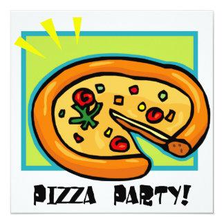 """Fiesta 3 de la pizza invitación 5.25"""" x 5.25"""""""