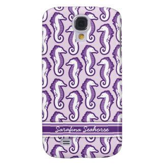 Fiesta 3 del Seahorse - púrpura Funda Para Galaxy S4