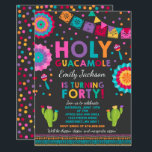 "Fiesta 40th Birthday Invitation Holy Guacamole 40<br><div class=""desc"">Fiesta 40th Birthday Invitation  All designs are © PIXEL PERFECTION PARTY LTD</div>"