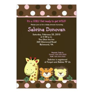 FIESTA 5x7 Brown/fiesta de bienvenida al bebé Anuncios Personalizados