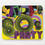 fiesta 80s alfombrilla de ratón