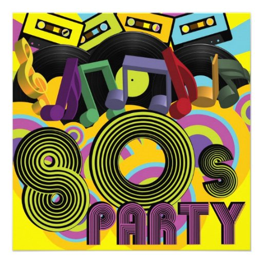 fiesta 80s anuncios