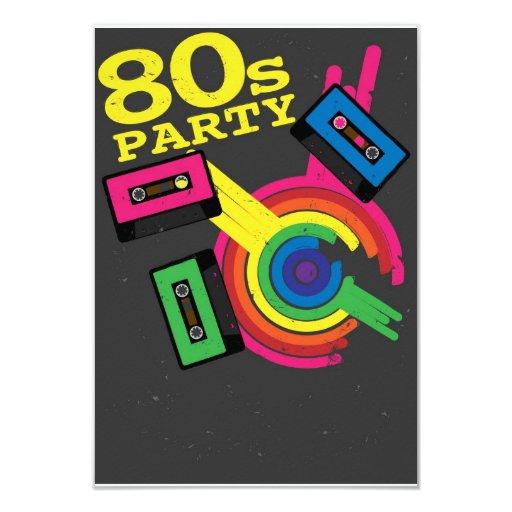 fiesta 80s comunicado personalizado