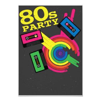 """fiesta 80s invitación 3.5"""" x 5"""""""