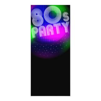 """fiesta 80s invitación 4"""" x 9.25"""""""
