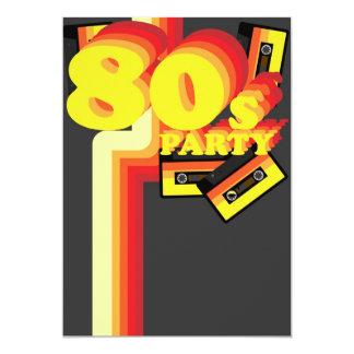"""fiesta 80s invitación 5"""" x 7"""""""