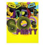 fiesta 80s invitaciones personales