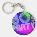 fiesta 80s llavero personalizado