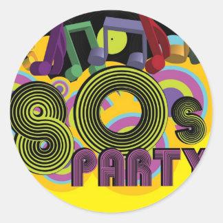 fiesta 80s etiqueta