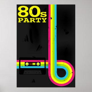 fiesta 80s póster