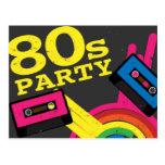fiesta 80s tarjeta postal