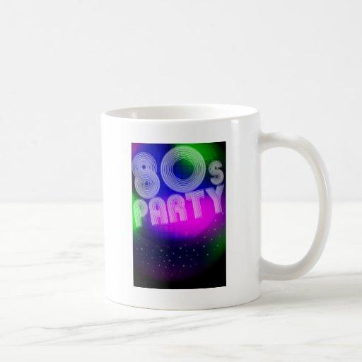 fiesta 80s taza clásica