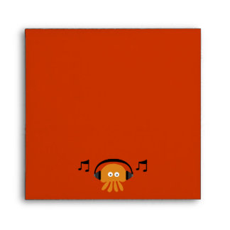 Fiesta adaptable de DJ de las medusas anaranjadas Sobre