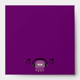 Fiesta adaptable de DJ de las medusas púrpuras Sobres