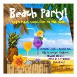 Fiesta adulto de la playa de los cócteles de la pa comunicado personalizado