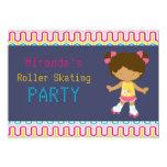 Fiesta afroamericano retro del patinaje sobre invitación 12,7 x 17,8 cm