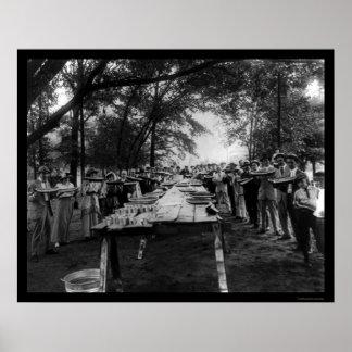 Fiesta Alabama 1917 de la sandía Póster