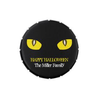 Fiesta amarillo grande de Halloween del negro de Jarrones De Caramelos