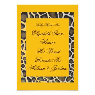 "Fiesta amarillo tropical Invitati del leopardo del Invitación 5"" X 7"""