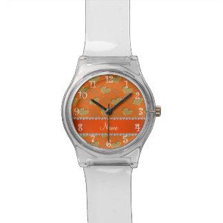 Fiesta anaranjado conocido del bachelorette de los relojes de mano
