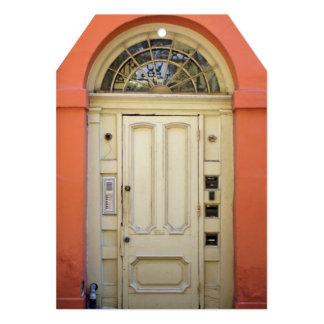 """Fiesta anaranjado del estreno de una casa de la invitación 5"""" x 7"""""""