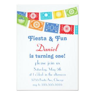 "Fiesta and Fun Birthday Invitation 5"" X 7"" Invitation Card"
